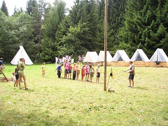 tábor světlušek a vlčat 2005 - Uragan Zbraslav