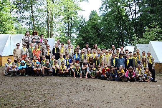 tábor světlušek a vlčat 2014 - Uragan Zbraslav
